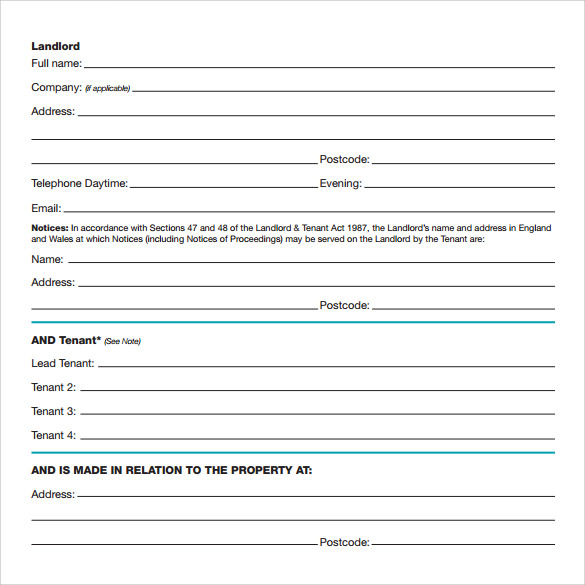 tenancy contract template free download