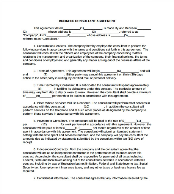 Consultant Contract Template 7 Download Free Documents in Word PDF – Consultant Contract Template