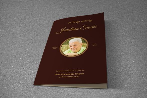 funeral program brochure template download