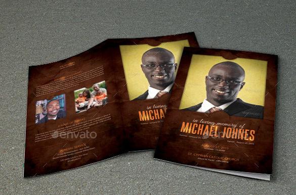 funeral program brochure psd template download 1