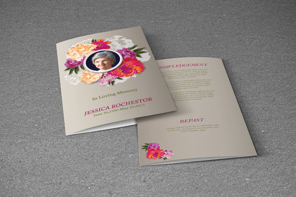 19 funeral brochure templates sample templates for Memorial pamphlets free templates