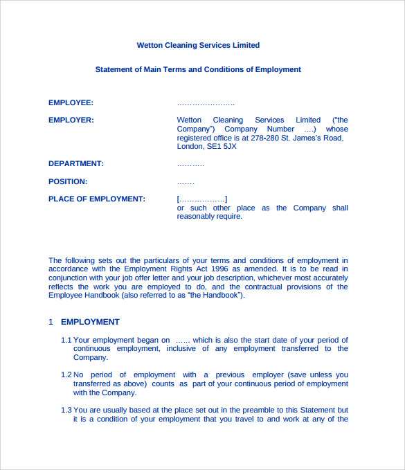 Cleaning Contract Template   Download Documents In Pdf