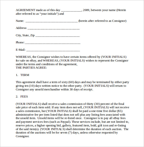 consignment contract doc