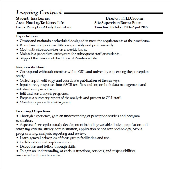 learning contract doc