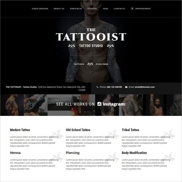 best tattoo artist joomla template tattoo artist salon joomla template IeLIL2uT