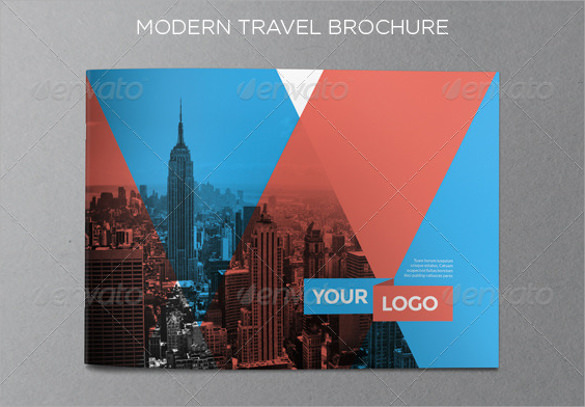 modern travel brochure