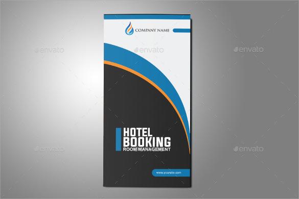 modern hotel tri fold brochure design