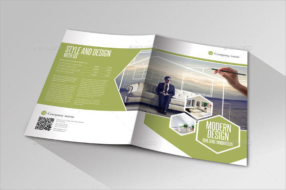 modern design indesign bifold brochure