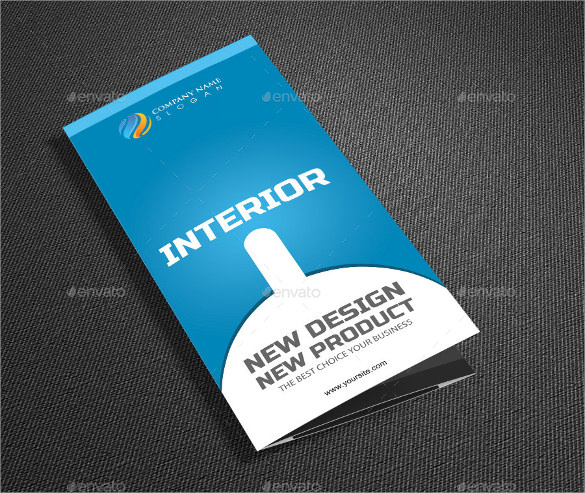 modern interior tri fold brochure template design