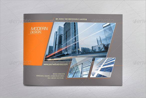 minimal modern design brochure a4