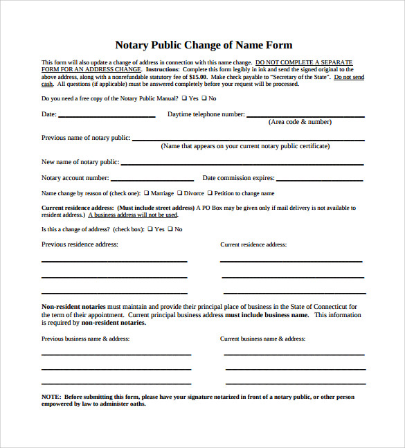 sample notary public clause template