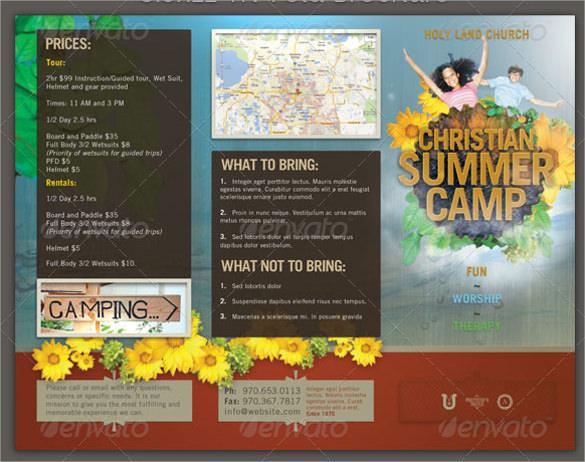 Summer Camp Brochure Template