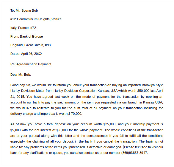 Sample Letter Of Credit - 14+ Samples, Examples, Format