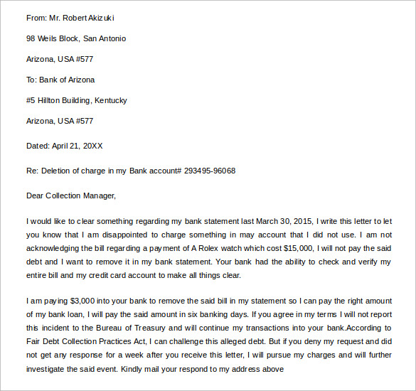 credit deletion letter