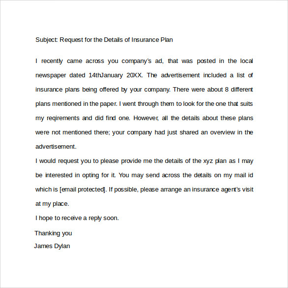 sample formal letter format