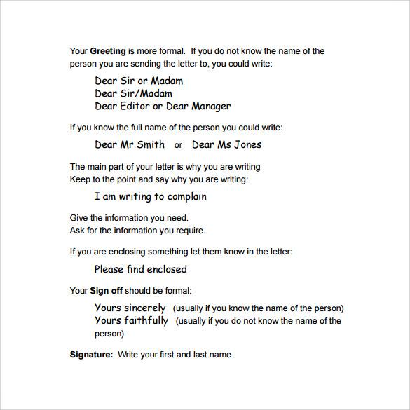 formal letter layout format pdf