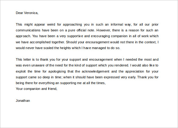 Sample Personal Letter 8 Free Documents in PDF DOC – Personal Thank You Letter