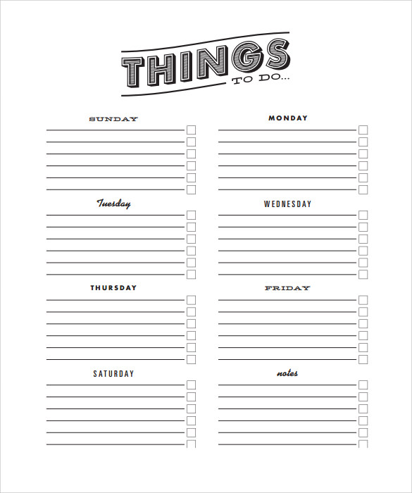 Attractive Free Printable To Do List Download PDF