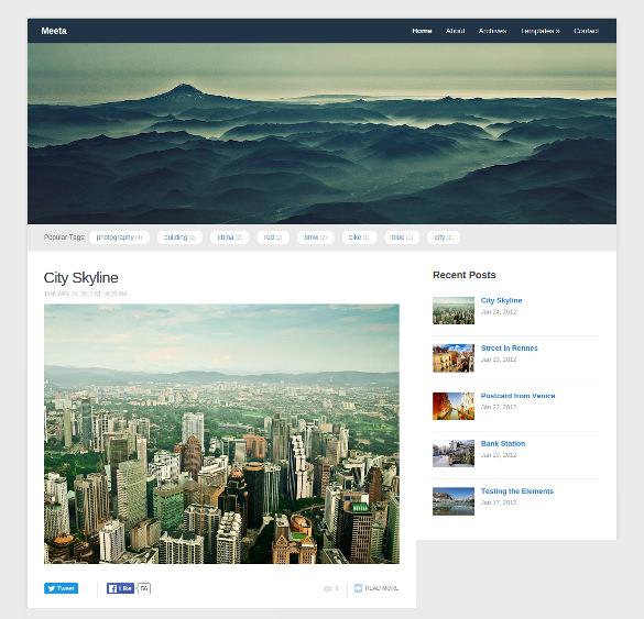 51  Free WordPress Themes   Templates In 2016 Sample Templates GTZeprtQ