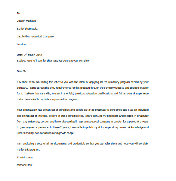 Sample Pharmacy Letter Template 14 Free Documents in PDF Word – Sample Pharmacist Letter