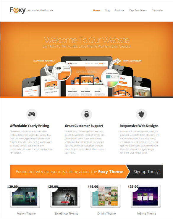 51  Free WordPress Themes   Templates In 2016 Sample Templates v45emLbO
