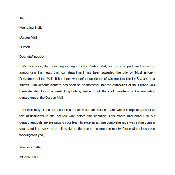 professional letter layout free download