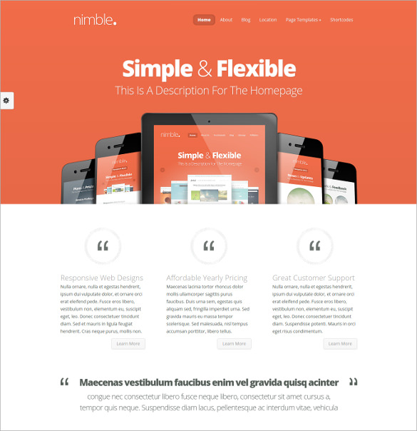 51  Free WordPress Themes   Templates In 2016 Sample Templates WmPT3hMX