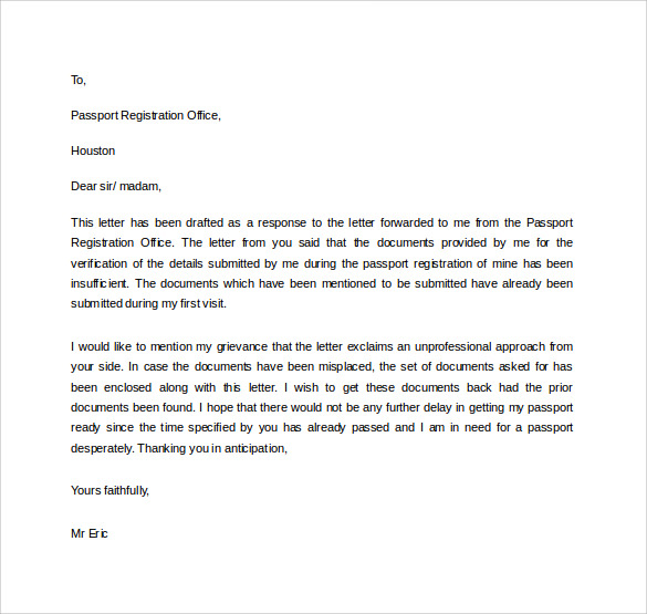 free download document professional letter in word