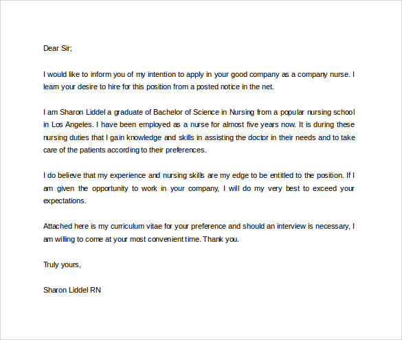 Job Application Query Letter