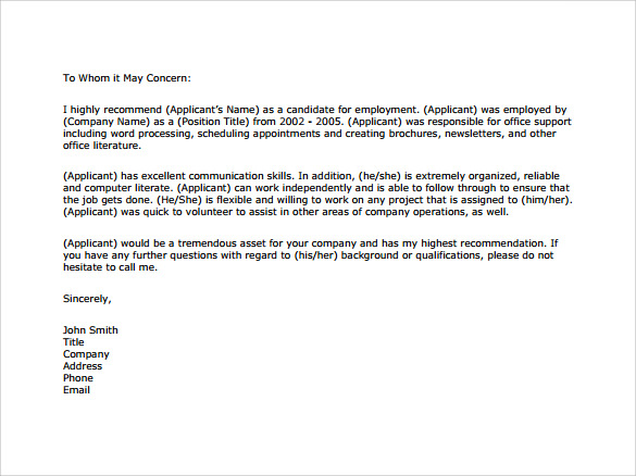 Professional reference letter pdf expocarfo Choice Image