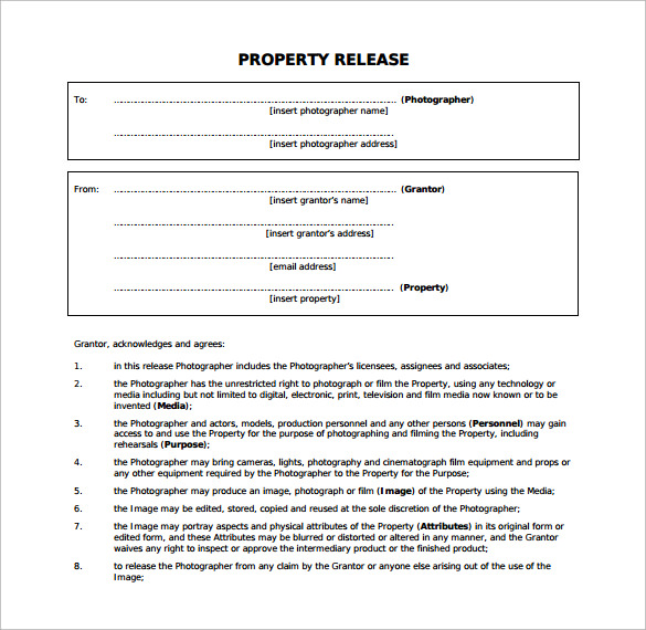 property release form to download