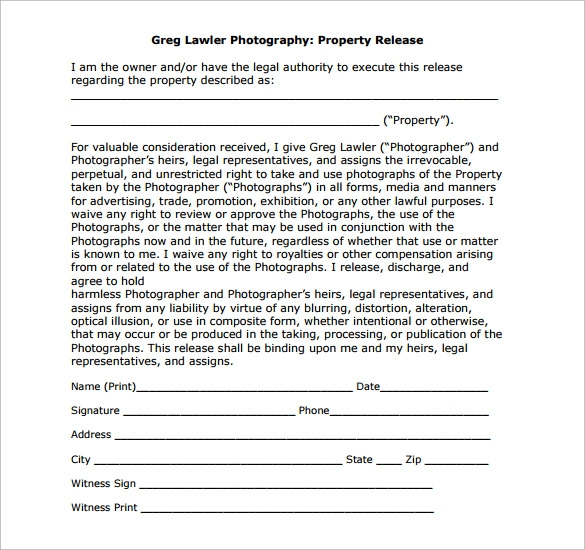 Download Basic Property Release Form