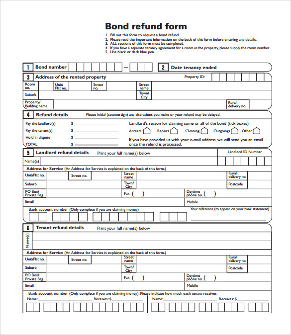 Bond Release Form   Download Documents In Pdf Word