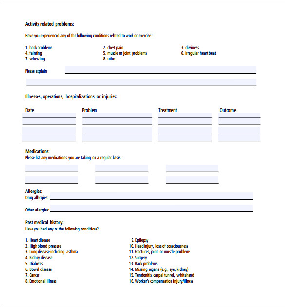emergency training release form to download