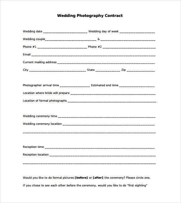 Portrait Photography Contract Template  BesikEightyCo
