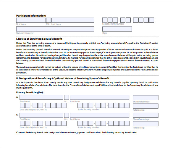 beneficiary form template beneficiary form template - Dolap.magnetband.co