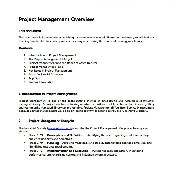 project overview template  13 Project Overview Templates to Download | Sample Templates