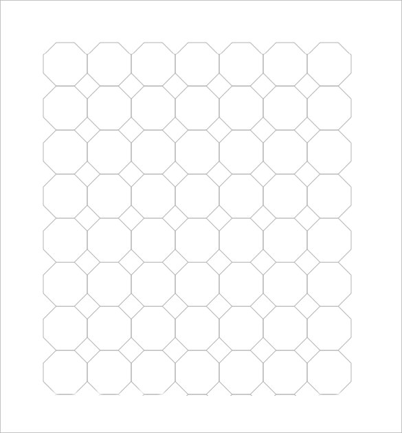 6  sample octagon graph papers