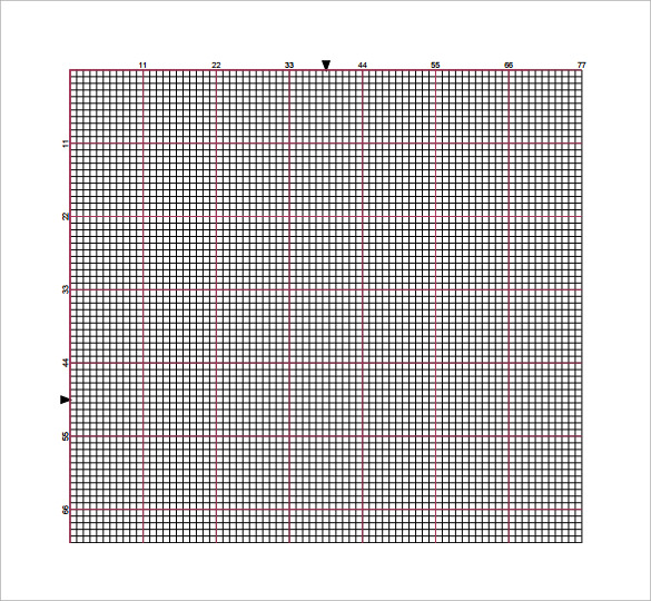 sample cross stitch graph paper