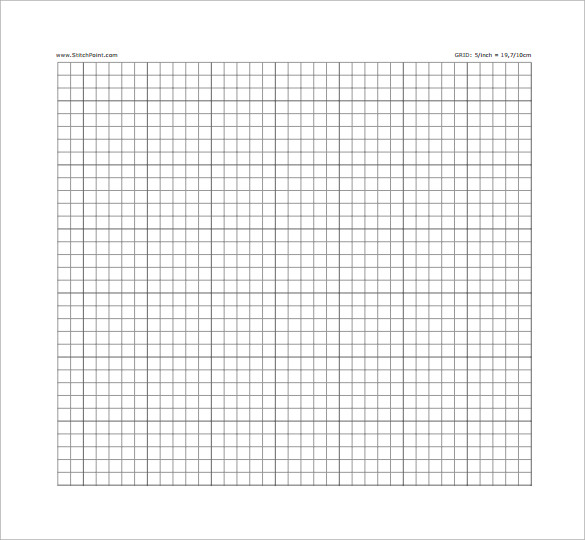 Cross Stitch Graph Paper on Blank Ten Frame Template Printable