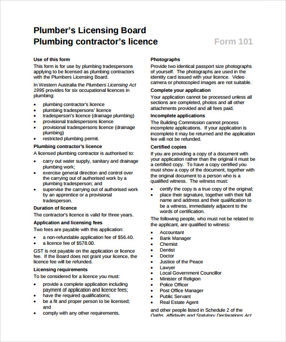 Plumbing Services Contract - PDF by yxd16968