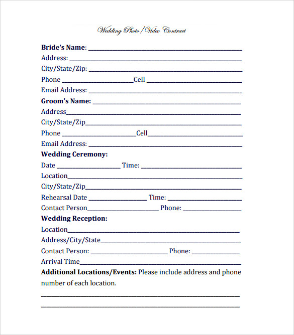 videography contract template 11 download free documents in pdf. Black Bedroom Furniture Sets. Home Design Ideas