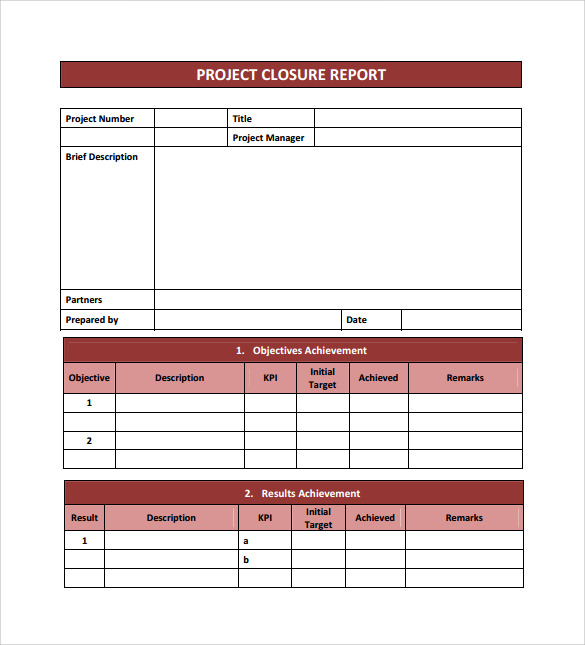 Sample Project Closure Template   Free Documents In Pdf Word