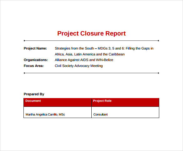 project closure checklist template – Sample Project Checklist Template