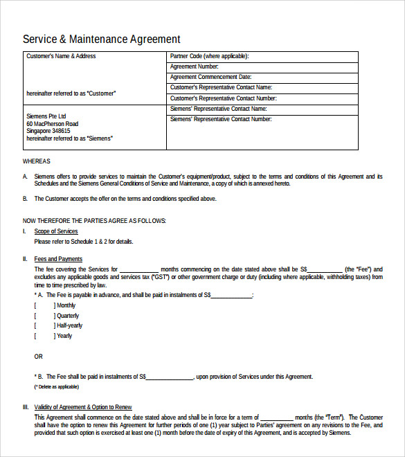 Marvelous Monthly IT Support Contract Template