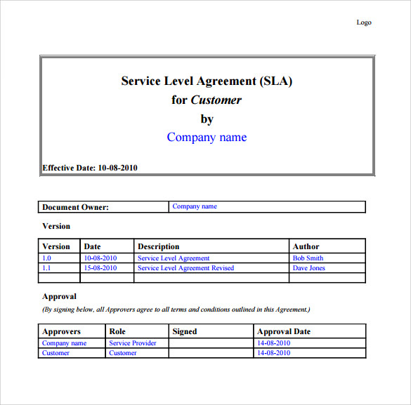 it support services contract template