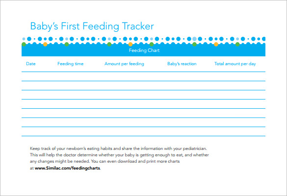 Baby Feeding Chart - 8+ Download Free Documents in PDF