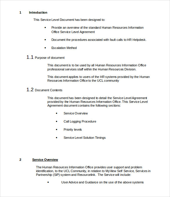 it services contract template free download