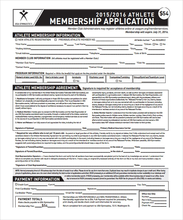 Fitness membership contract Free PDF