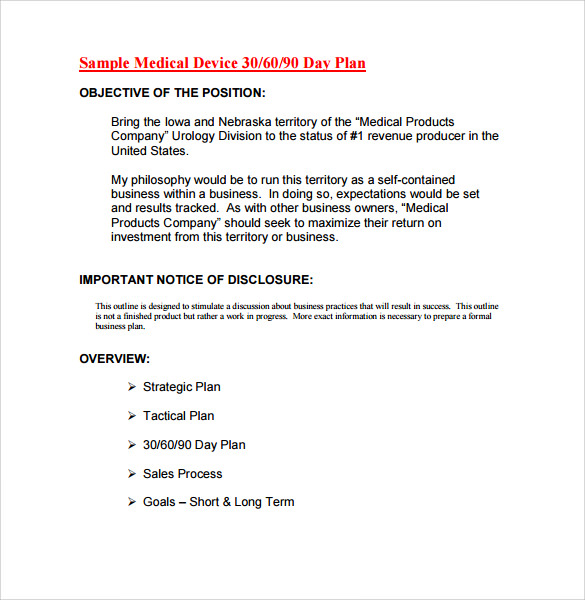 30 60 90 Day Action Plan 10 Documents In Pdf Word